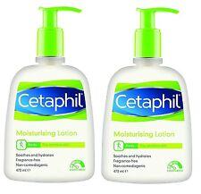 2 x Cetaphil Moisturising Lotion 473ml Sensitive Skin,Fragrance Free Moisturiser