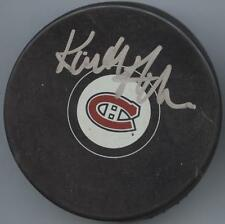KEITH ACTON SIGNED MONTREAL CANADIENS HOCKEY PUCK w/ COA