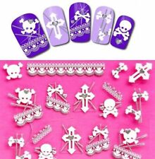 Gothic Punk Skull 3D Nail Art Stickers Nail Decals Decoration Manicure Tips Art✿