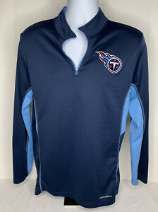 Majestic NFL Tennessee Titans 1/4 Zip Pullover Shirt Unisex Medium Embroidered