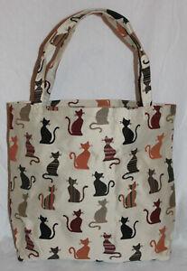 Katzen Einkaufsbeutel Signare Cheey Einkaufstasche Shopper Gobelin Tapestry