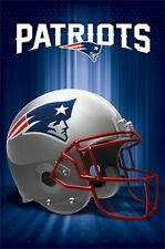 NEW ENGLAND PATRIOTS HELMET LOGO POSTER Rare Hot New 22x34