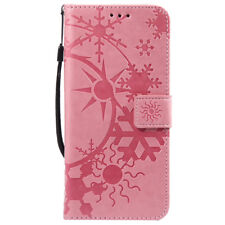 Snow Flip Wallet Leather Case Cover Magntic For Samsung S3 S4 S5 S6 S7 S8 S9 J3