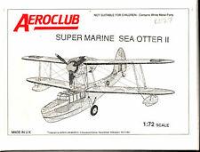 Aeroclub 1/72 Supermarine Sea Otter Mk.Ii Amphibian Kit Vacumform Resin White Me