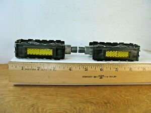 """Black Plastic Pedals from a 16"""" ESPN X-Games Motobike Bicycle"""