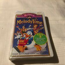 Melody Time VHS Clamshell Disney Masterpiece collection-New&Sealed Tape Peco Bil