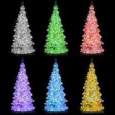 Mini White Pine Tree Small Christmas Tree Mood Lamp LED Light 7 Colors Changing