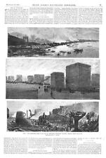 Fire in the city of Cleveland, Ohio  -  Lumber Yards  -  Iron Works   -  1884