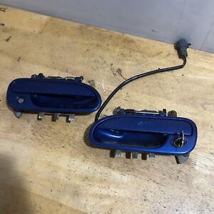 92-97 Subaru SVX Exterior Door Handles w/ Locks & Key Alcyone Left Right