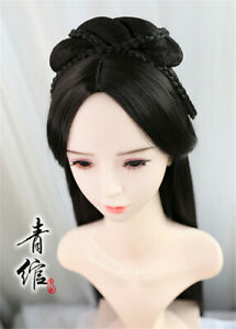 Chinese Ancient Custom Hair Wig Traditional Hairpiece Hanfu Prop Girl Gift Xiao8