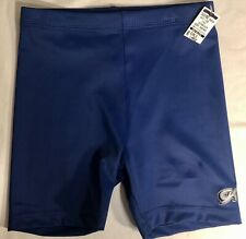 GK WORKOUT SHORTS GIRLS LARGE NAVY NYLON/LYCRA GYMNASTICS DANCE CHEER CL NWT!