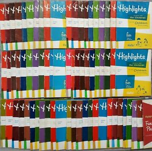 Vintage Highlights Magazine 68 In Lot 1969 to 1976 Kids Hidden Pictures Book EUC