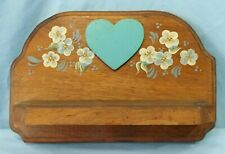 Handmade Country Wall Shelf Hand Painted Floral