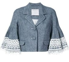 Abrigos y chaquetas de mujer de color principal azul de seda