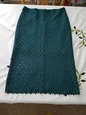 "Ladies BNWOT ""MNG Collection"" Green Lace Knee Length Skirt (Size 10)"