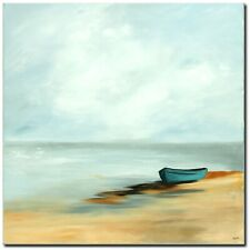 ORIGINAL Acryl Bild Gemälde Abstrakt Malerei Kunst Modern UNIKAT Boot HANDGEMALT