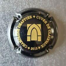 rare capsule champagne DRAPPIER n°12 cuvée abbaye centre noir et or 2015
