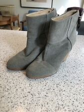 Rag And Bone REDUCED ashby Grey Canvas Boots Size 39 UK 6