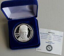 1990 Rickey Henderson Silver Commemorative Metal  939 Stolen Bases Leader #4823