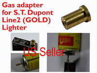1X Gas Refill Adapter & 4 Flints for Real ST. Dupont lighter Line 1/2 Gold Cap