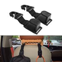 2x Multi-functional Car Seat Hook Auto Headrest Hanger Bag Holder Clip Universal