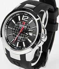 Swiss Military Hanowa señores reloj caucho banda nuevo negro predator Wow s19