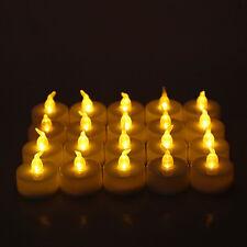 6/12 LED Flameless Tealight Candle Flickering Tealight Night Light Decor