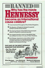 HENNESSY Movie POSTER 27x40 B Rod Steiger Lee Remick Richard Johnson Trevor
