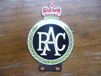RAC CHROME ENAMEL CAR BADGE BMC JAGUAR MG RILEY AC FORD MORGAN HEALEY JENSEN VAN
