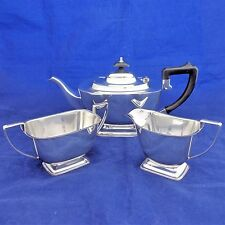 Antique 1920s - Art Deco Silver Plated Tea Set by Henderson of Glasgow 3 Pieces