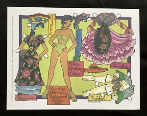 Native Mexican Costumes Paper Doll by Larry Bassin, 2003 OPDAG