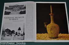 1972 magazine article about the NATIONAL MUSEUM, SEOUL KOREA, history photos