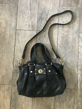 MARC BY MARC JACOBS Black Leather Totally Turnlock Lil' Shifty Satchel