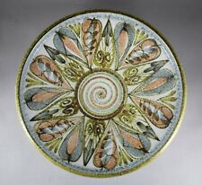 LARGE DENBY GLYN COLLEDGE HAND PAINTED BOWL 32cm C1960