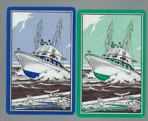 Geniune Swap Vintage Playing Card  x 2 Ships