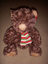 """Super Soft Adorable Merry Brite 18"""" Christmas Teddy with Scarf - New with Tags!"""