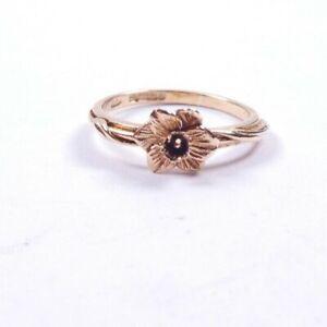 Rose Gold Ring Flower 9 carat gold size K