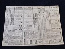 Vtg Original Ann Arbor Railroad Purser's & Auditor's Check MI Interstate Co A22