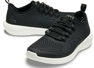 New Crocs LiteRide Boy's Shoes Size: 2 juniors, Black & White NWT!