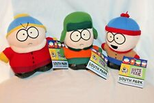 """New Set Of 3 South Park Comedy Central 7"""" Plushes 2000"""