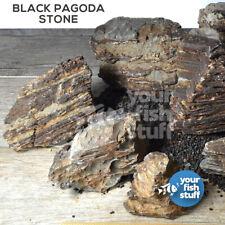 10 LBS Black Pagoda Aquascaping Aquarium Rocks Tropical Planted Shrimp Tank