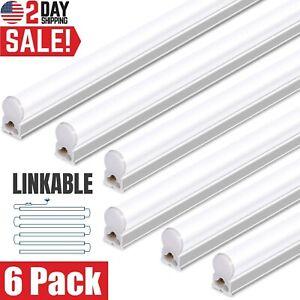 T5 LED Lights Linkable Super Bright Garagе Shop Ceiling Tube Fixture 4FT 6 Pack