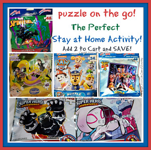 Puzzle on the Go! ❤️ Character Puzzles ❤️ 24--48 Pcs ❤️ Ships Free! Buy 2 & SAVE