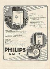 W0095 Philips Radio - Pubblicità 1930 - Advertising