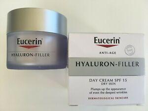 Eucerin Anti-Age Hyaluron-Filler Day Cream SPF 15 Dry Skin 50ml  HALF PRICE SALE