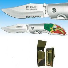 Couteau pliable en INOX / STEEL 440 avec 2 faces LÉGION + étui Housse Protection