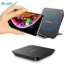 2in1 Lying/Standing Qi Wireless Charger Fast Charging Pad Docking Station Holder