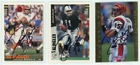DAVID KLINGLER Autographed Signed Football Card Lot - 3 Autos BENGALS RAIDERS