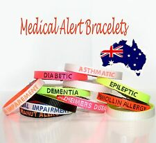 Medical Alert bracelet ID Personalised Bangle Emergency Health