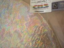 "Dichroic Glass:CBS 96 COE Corkscrews Pattern on Textured Clear - 3""Sq"
